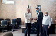 تجلیل بخشدارمرکزی ملکان از مدیرمسئول پایگاه خبری اخبار ملکان بمناسبت روز خبرنگار