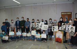برگزاری ورکشاب طراحی سیاه قلم و نقاشی کودکان در شهرستان ملکان
